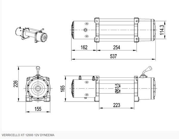 VERRICELLO XT 12000 12V SCS4X4